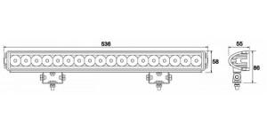 BARRA A LED 12-28 V, 54 W