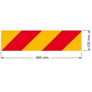 Kit 2 pannelli posteriori 565x132xmotrici,retroriflettenti e fluorescenti per autocarri conformi al regolamento cee onu 70